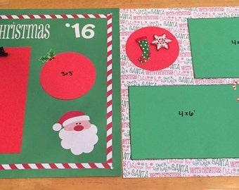 Christmas 2 page scrapbook layout