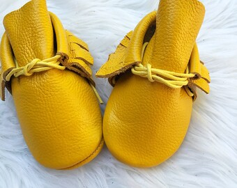 Yellow boot moccasins
