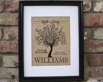 Mothers Day Baby 49th Birthday Gift for Her Birthday Unique Gifts For Mommy Tree Branch Art Gift for Mother Tree Branch Decor Framed Burlap