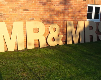 extra large 48 4 foot tall giant wedding birthday party or shop sign wooden letters numbers 120cm unfinished cnc cut 18mm mdf