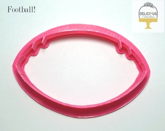 Football Cookie Cutter, 3D Printed