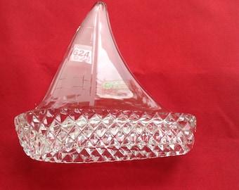 Crystal boat Galaway glass