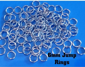 Silver Jump Rings, 6 mm, 26g, Jewelry Findings, Silver Jump Rings, Supplies