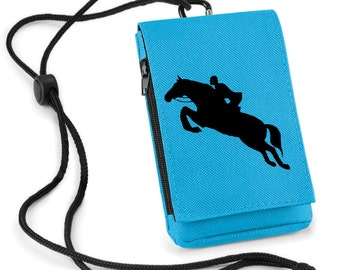 Phone Pouch Jumping Horse Printed