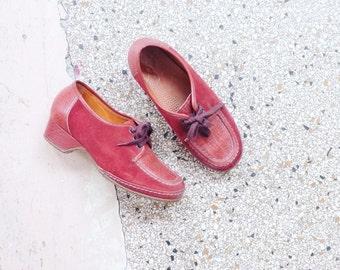 Vintage suede flats hippie shoes EUR 38,5