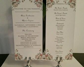 Whimsy Wedding Ceremony Program
