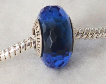 Authentic Pandora Fascinating Blue Glass Bead Charm