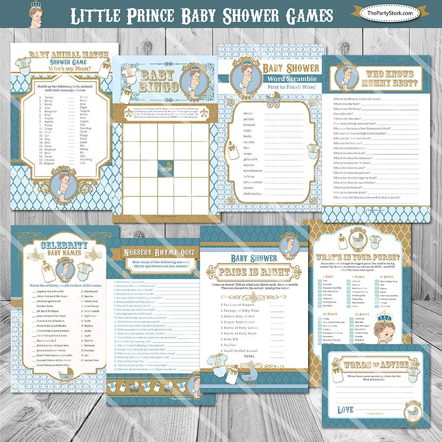 Baby Shower Games: ON SALE. Prince Baby Shower Games Royal Prince Baby Shower