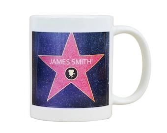 Personalised Hollywood Star Mug
