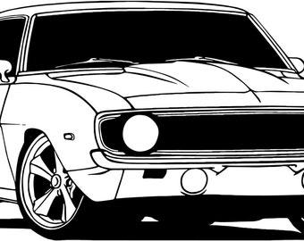 camaro, auto sport, sticker decal wall
