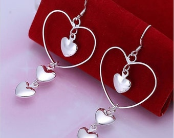 """925 Sterling Silver """"Heart to heart"""""""
