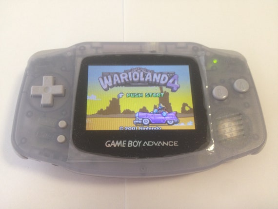 Custom Clear Glacier Blue Gameboy Advance with Backlit