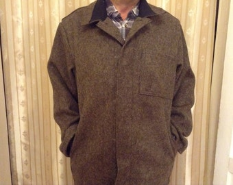 Men's Coat Hand Sewn From Hand Felted Pure Wool