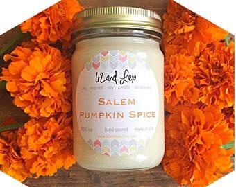 Salem Pumpkin Spice Soy Candle/Fall Soy Candles / Pumpkin Spice/Pumpkin Candle/ Fall Candles/Pumpkin Spice Candle / Pumpkin Soy Candle