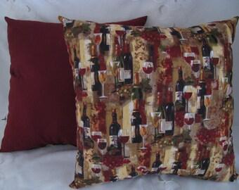 Wine Pillows Set of 2