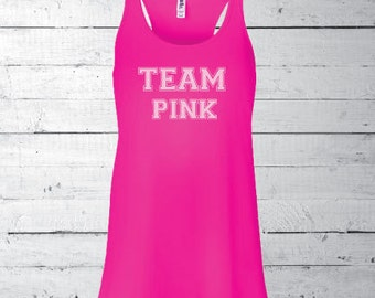 Team pink shirt | Etsy