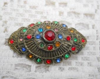 Vintage Rhinestone Pin Brooch #788