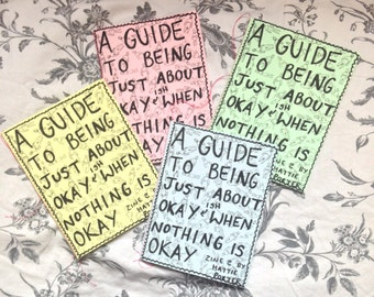 a guide to being just about okay | positivity and mental health zine