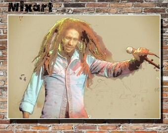Bob Marley 19x13 Print, Poster, Wall Art, Instagram, Reggae, Ska, Rocksteady