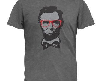 Abraham Lincoln Geek Glasses T-Shirt