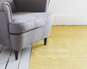 Mustard Yellow Rug / Handwoven Cotton / The Minette