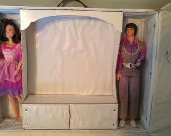 Donny & Marie Osmond Dolls and Double Doll Case Free Shipping