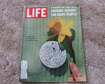 Vintage LIFE Magazine April 17, 1970 Cover story: Crusade Against Too Many People