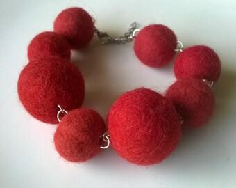 wet felted bracelet