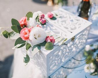Exclusive Wedding Card Box-Wedding Gift-Plywood box-Love Story Keepsake Box-Wedding money box-Wedding card money holder-White Card Holder