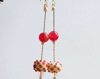 Hand-made ceramic earrings