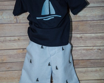 Sailboat Shorts and Shirt