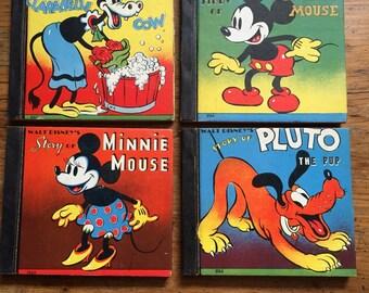 Set of Four Walt Disney Books published by Whitman Publishing 1938