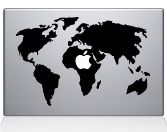 World Map Apple Macbook Pro 13 15 17 Sticker Decal Skin Cover For Laptop Mac