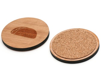 Taco Wooden Coasters Set of 4, Gifts For Him, Wedding Gifts, Groomsman Gifts, and Personalized