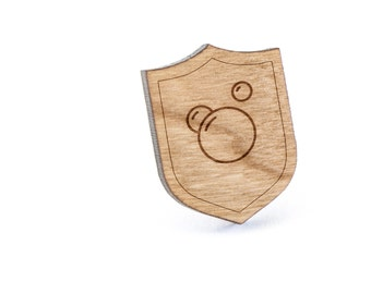 Bubbles Lapel Pin, Wooden Pin, Wooden Lapel, Gift For Him or Her, Wedding Gifts, Groomsman Gifts, and Personalized