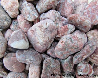 80 Beach Pebbles, Pink Grey Sea Stones, Beach Stones, Aquarium Decor, Pebbles For Craft, Decorative Stones, Sea Pebbles, Mosaic Pebbles, K02
