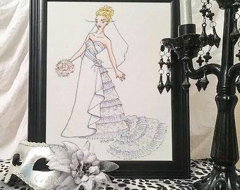 Custom Fashion Illustration - original artwork