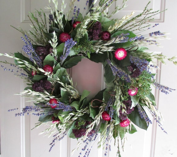 how to make dried lavender wreath