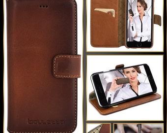 Bouletta Leather iPhone 6 (S) Case-Wallet Case-Burned Cognac