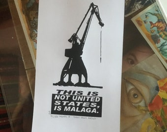 """This is not the united states, is Malaga series. """"Malaga port crane"""""""
