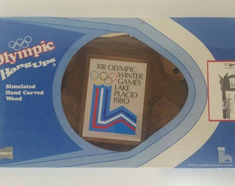 Olympic Hang Ups Ski Storage. Unopened. 1980 Olympic Winter Games. Lake Placid. Official Olympic Product. Made in the USA.