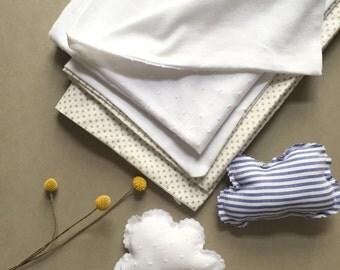 White on white baby blanket/throw