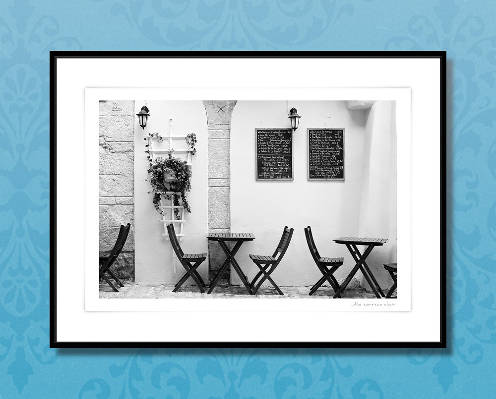 fine art photography french cafe black white wall