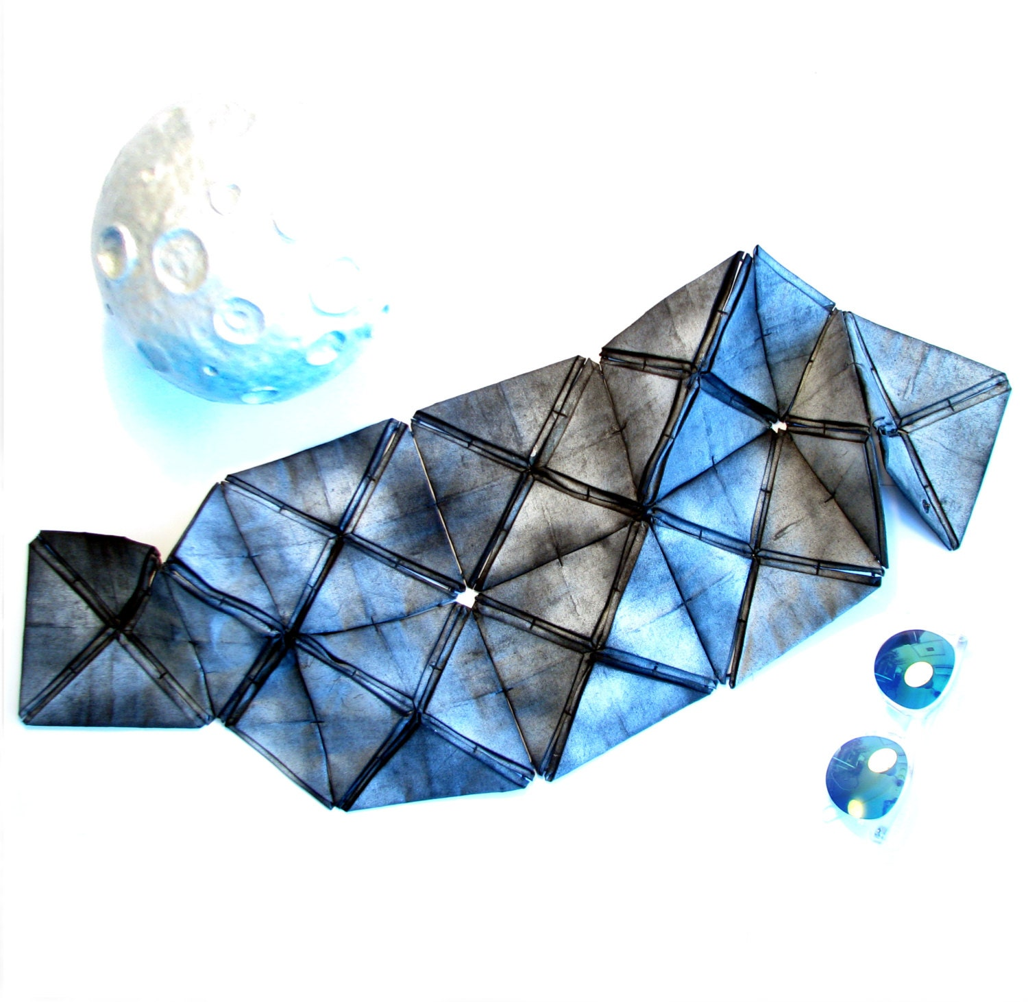 geometric industrial origami scarf gift for her
