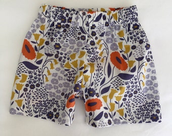Organic baby and toddler shorts different fanrics to choose from