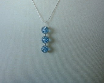 Light Blue and Silver Pendant Necklace