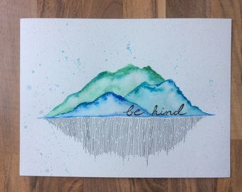 Be Kind Watercolor Painting