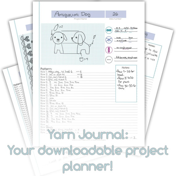 Knitting Project Journal : Yarn journal crochet and knitting project planner from