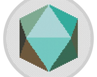 Mid Century Modern Geometric Cross Stitch Pattern PDF Instant Download Modern embroidery Wall decor X062