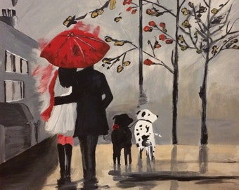 Romantic Walk In The Rain